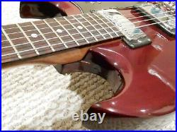 Vintage 1970's MIJ Montaya HM-2 SG Electric Guitar Made in Japan withCase Teisco