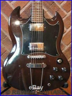 Vintage 1970's Made in Japan Avon Rose Morris Double cut sold body guitar