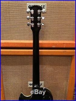 Vintage 1970s Daion Les Paul Lawsuit MIJ Black Beauty Electric Guitar 9.2lbs