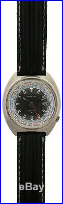 Vintage 1970s Seiko World Time GMT Watch 6117-6400 Pilot Date Automatic