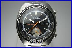 Vintage 1971 JAPAN SEIKO FIVE SPORTS SPEED-TIMER 6139-7020 21Jewels Automatic