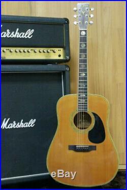 Vintage 1973 Vintage Acoustic guitar K YAIRI YW-600 Solid Spruce Made in Japan