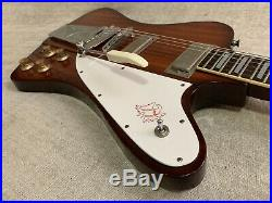 Vintage 1977 Ibanez 2348 Firebird Guitar Mahogany Brown + OHSC Case Japan MIJ