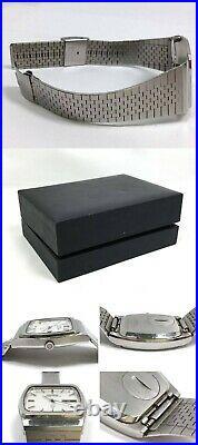 Vintage 1978's Seiko Grand Quartz Ref. 9256-5010 TV Case Snowflake Dial Watch