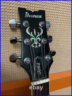 Vintage 1980s 1982 Ibanez AS100 Artist Sunburst MIJ Japan Guitar with Hard Case