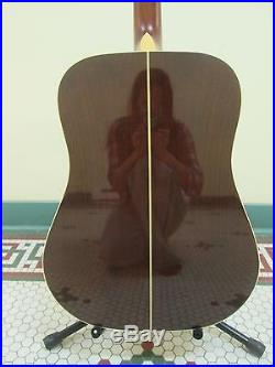 Vintage 1987 Takamine Natural 6 string Lawsuit Era acoustic guitar with case