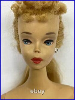 Vintage #3 Ponytail Barbie Blonde Brown Eyeliner All Original