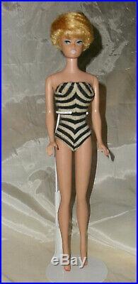 Vintage All Original Platinum Bubble Cut Barbie Doll Comes With Her Original Box
