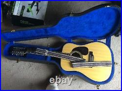 Vintage Alvarez 12 string acoustic guitar With Hard Case (N. NEW Condition)