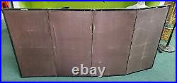 Vintage Asian Silk Screen 4 Panel Hand Painted 70 x 35