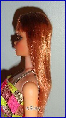 Vintage Barbie 1960's TNT Twist n Turn Titian Red Hair Dress Heels OSS Some TLC