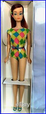Vintage Barbie Beautiful A/O Midnight/Ruby Color Magic in Swimsuit VHTF