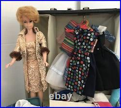 Vintage Barbie Bubblecut Huge 1960s Lot Case, Clothing, Accessories In GUC