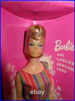 Vintage Barbie Doll American Girl Titian Red Head Original Box #1070