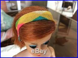 Vintage Barbie Doll Color Magic Ruby Red Original Headband/hair Clip High Color