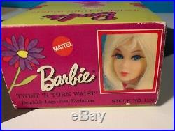 Vintage Blonde Flip Twist'n Turn Barbie In Her Original Box #1160 Beautiful