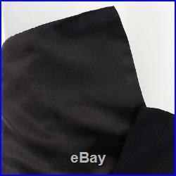 Vintage COMME DES GARCONS AW1992 black foldover waist wrap front midi skirt S