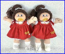 Vintage Cabbage Patch Kid Twin Girls Tsukuda Japan 1985 Extremely Rare
