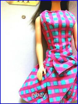 Vintage Chocolate Bon Bon Standard Barbie Dressed in Vintage Repro Best Bow! WOW