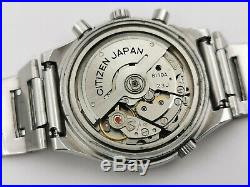Vintage Citizen Automatic 67-9119 Chronograph Fly-Back Cal 8110A ALL ORIGINAL