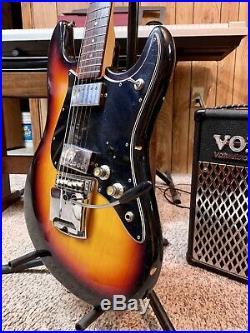Vintage Electra Sustainer Japanese Electric Guitar 2263WC Sunburst Tremelo Case