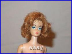 Vintage Fashion Queen Barbie Original Outfit & 4 Wigs Stand Japan (F57)