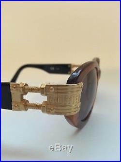 Vintage JEAN PAUL GAULTIER 56-5204 C Sunglasses. Gold, 90s, Japan, JPG, Rare
