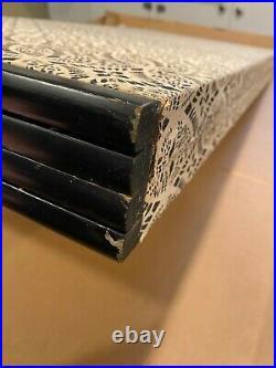 Vintage Japanese Original 4 Panel Folding Screen Byobu Painting on Silk