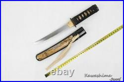 Vintage Japanese Small Sword Carbon Steel Handmade With Sheath Dagger Fighting