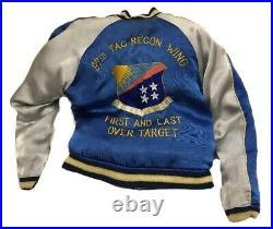 Vintage Japanese Souvenir Reversible Japan Bomber Satin Jacket SILK sukajan S