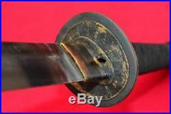 Vintage Japanese Sword Samurai Katana Sharpen Signed Blade Steel With Sheath