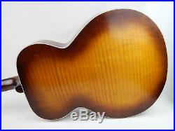 Vintage Kay Archtop Acoustic Guitar with Pick Guard & Metallic Badge Sounds Good