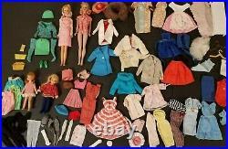 Vintage Mattel Barbie Doll lot. Clothes, Accessories. 1958/1965 Francie Tutti Midge