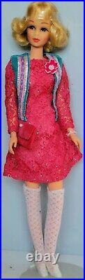 Vintage Mattel Barbie Htf Blonde Short Flip Curly Tnt Francie #1170 Beautiful