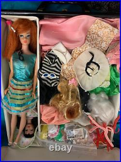 Vintage Mattel TLC Lot (Queen/Ponytail Barbie #3/4 Blue Liner OSS) Clothes Plus