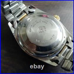 Vintage Orient PRESIDENT Mechanical Automatic watch Two tone day date indicator