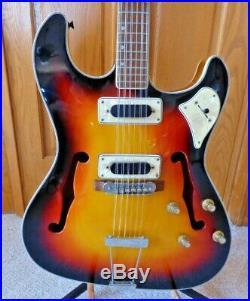 Vintage RARE! Toledo 12 String Electric Guitar Red Sunburst MIJ