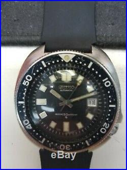 Vintage Rare Seiko Diver 6105-8119 Automatic Watch runs great