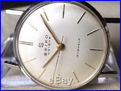 Vintage SEIKO Hand-Winding Watch/ UNIQUE 15J SS 1958