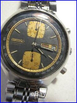 Vintage SEIKO JOHN PLAYER SPECIAL AUTOMATIC WATCH 6138-8030 Two Tone Chronograph