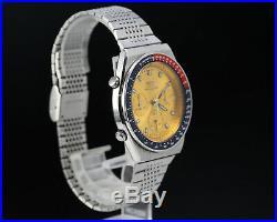 Vintage SEIKO Pogue 7A28-7030 Quartz Chronograph Pepsi Bezel NO RESERVE