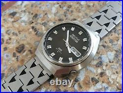 Vintage Seiko 5 Actus SS 23 Jewels Automatic 6106 8680 Kanji October 1974