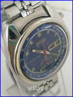 Vintage Seiko 6139 6010 Proof Dial Chronograph Automatic Day Date Working