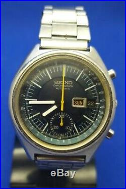 Vintage Seiko 6139 7070 Chronograph, Authentic Dial Day Date Mens Watch Japan