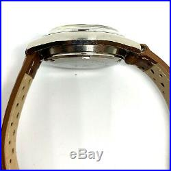 Vintage Seiko 7016-8001 automatic flyback chronograph, March 1973, panda dial