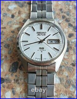 Vintage Seiko Actus SS 21 Jewels Automatic 6306 7010 Kanji December 1976