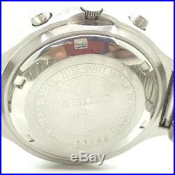 Vintage Seiko Chronograph 7016a Automatic D/d 39mm Mens Japan Wrist Watch A5441
