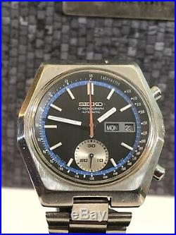Vintage Seiko Chronograph Cal 6139-7080 Automatic Watch