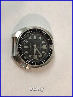 Vintage Seiko Diver Watch 6105-8110 Works Well 1975 No Band