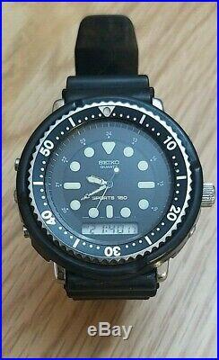 Vintage Seiko H601-5480 Arnie Ana-Digi Diver 150m sports Alarm Chrono-is working